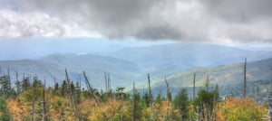 A Mountain View From Clingmans Dome In Great Smoky Mountains National Park