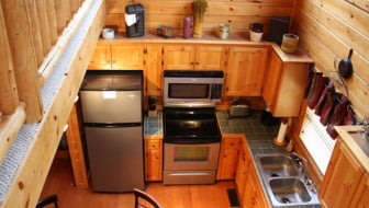 Staying In Gatlinburg, Tennessee Cabins For Vacation Is Easy With Fully Stocked Kitchens Like This